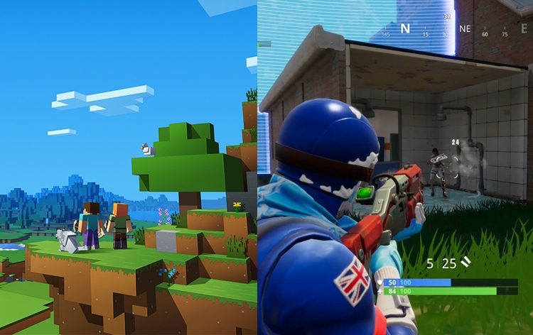 Minecraft 110 Videojuegos: Fortnite Vs Minecraft ¡Destronado El Videojuego Mas Visto